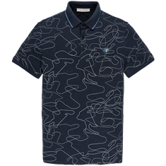 Cast Iron polo's Slim Fit cpss203876 in het Donker Blauw