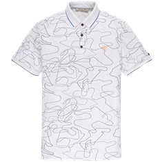 Cast Iron polo's Slim Fit cpss203876 in het Wit