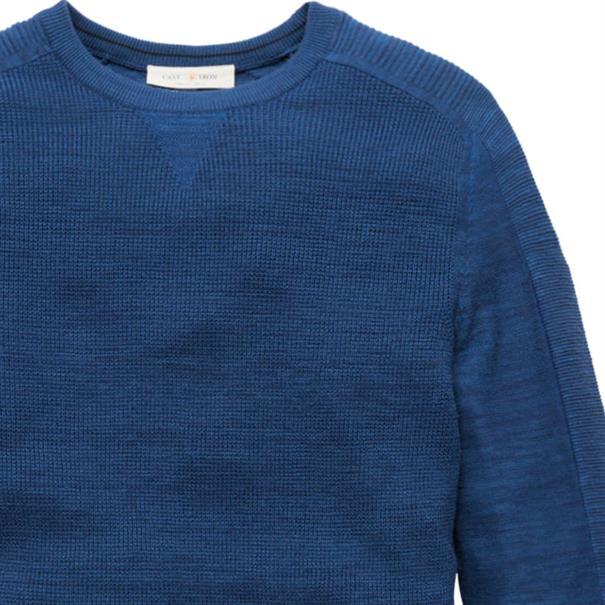 Cast Iron ronde hals trui ckw186404 in het Donker Blauw