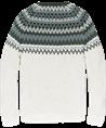 Cast Iron ronde hals trui CKW207347 in het Ecru