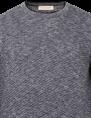 Cast Iron ronde hals trui CKW215300 in het Donker Blauw