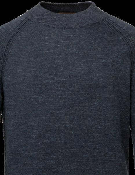 Cast Iron ronde hals trui CKW215301 in het Donker Blauw