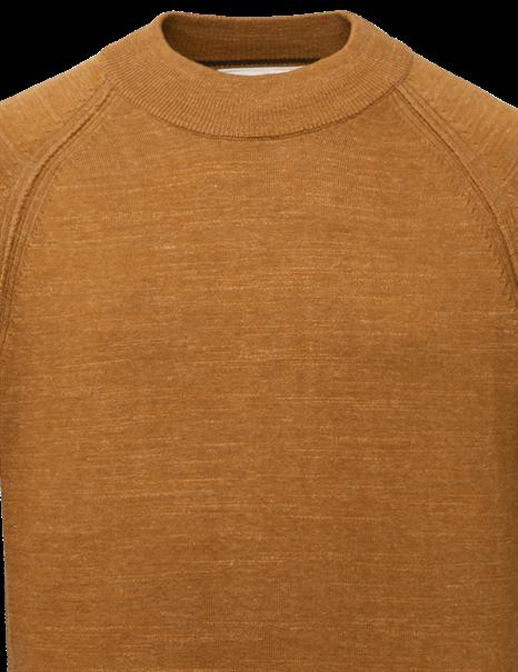 Cast Iron ronde hals trui CKW215301 in het Oker