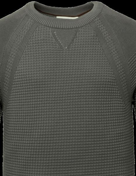 Cast Iron ronde hals trui CKW216320 in het Antraciet