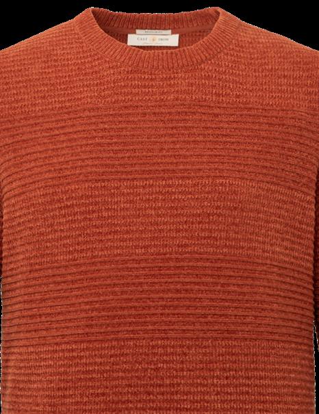 Cast Iron ronde hals trui CKW216324 in het Oker