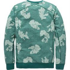 Cast Iron sweater CSW188106 in het Aqua