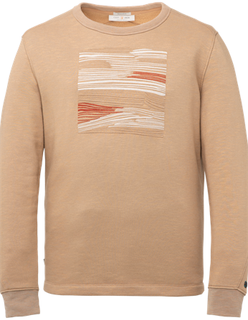 Cast Iron sweater CSW216406 in het Taupe
