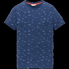 Cast Iron t-shirts Slim Fit ctss202264 in het Licht Blauw