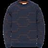 Cast Iron truien csw196001 in het Donker Blauw