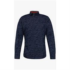 casual overhemd 1005818 in het Blauw