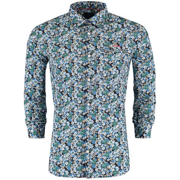casual overhemd 18gn520 in het Blauw