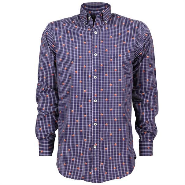 casual overhemd i16p3181 in het Blauw