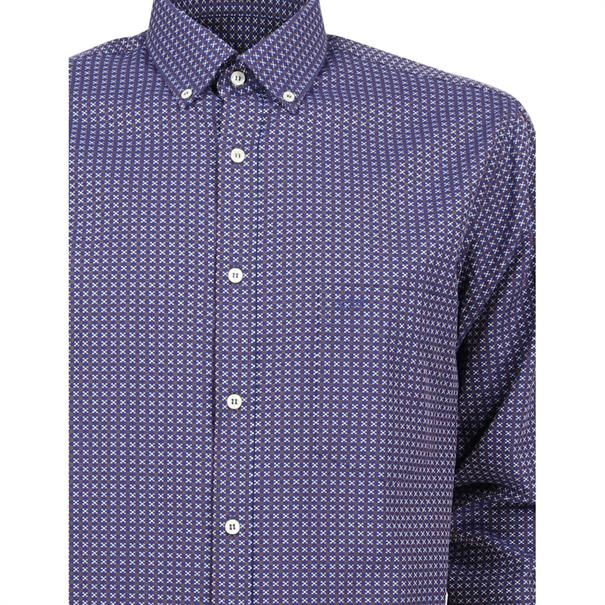 casual overhemd i16p3183 in het Donker Blauw