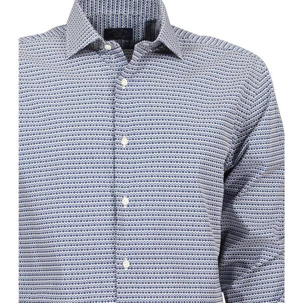 casual overhemd p16p0396sf in het Blauw