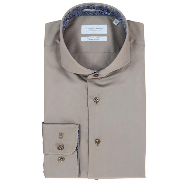 casual overhemd Tailored Fit 827700 in het Taupe