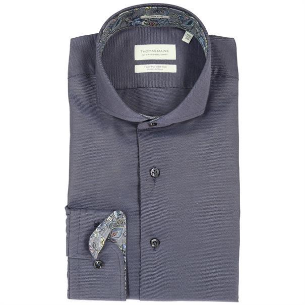 casual overhemd Tailored Fit 827720 in het Blauw