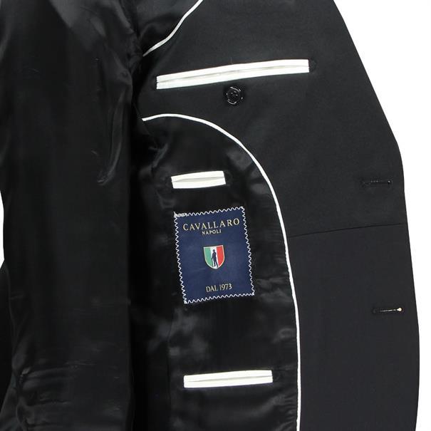 Cavallaro business colbert Slim Fit Bologna.57012 in het Zwart