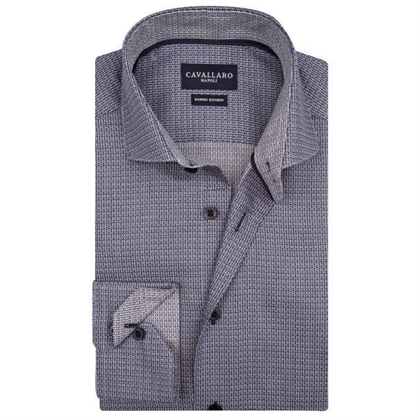 Cavallaro business overhemd 1076079 in het Marine