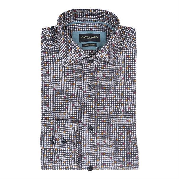 Cavallaro business overhemd 1097010 in het Donker Blauw