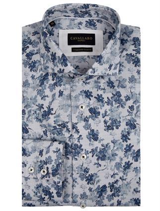 Cavallaro business overhemd 110211036 in het Wit/Blauw