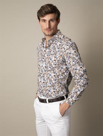 Cavallaro business overhemd 110211040 in het Bruin