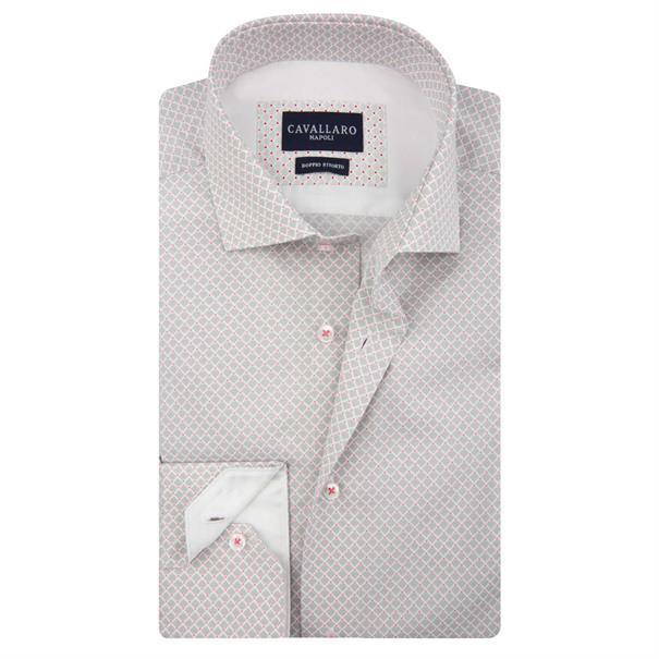 Cavallaro business overhemd crato in het Licht Grijs