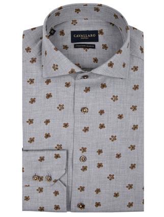 Cavallaro business overhemd Ferrano in het Grijs