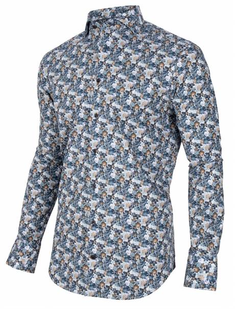 Cavallaro business overhemd Tailored Fit 110205002 in het Marine