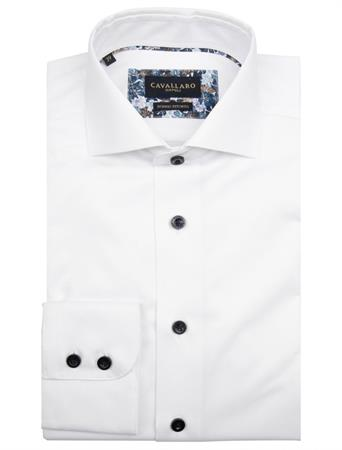 Cavallaro business overhemd Tailored Fit 110205021 in het Wit