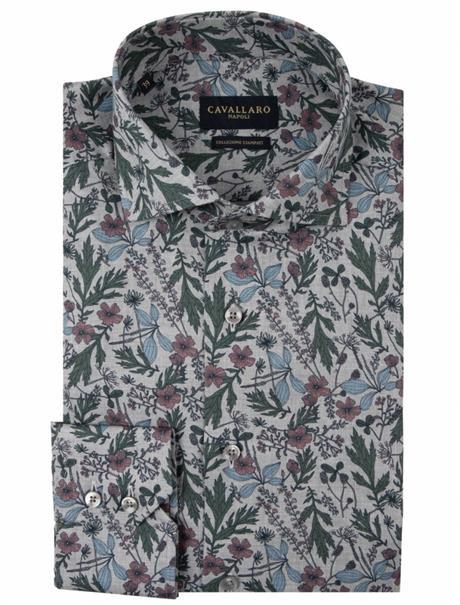 Cavallaro business overhemd Tailored Fit 110205030 in het Licht Grijs