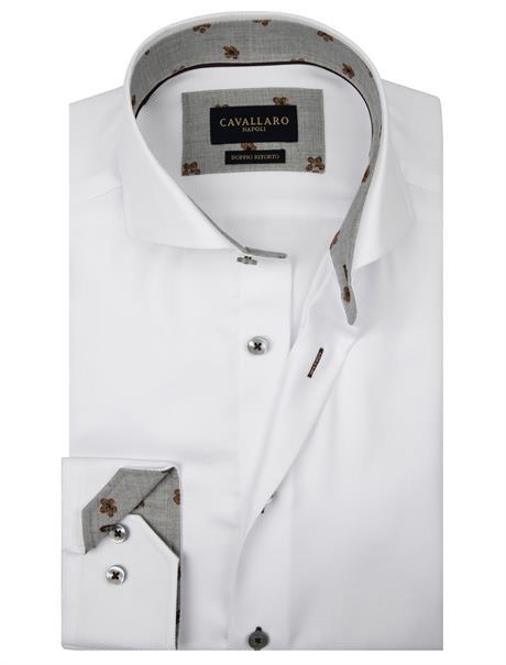 Cavallaro business overhemd Tailored Fit 110205038 in het Wit