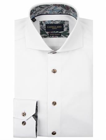 Cavallaro business overhemd Tailored Fit 110205041 in het Wit