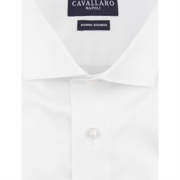 Cavallaro business overhemd Tailored Fit nosto bianco in het Wit