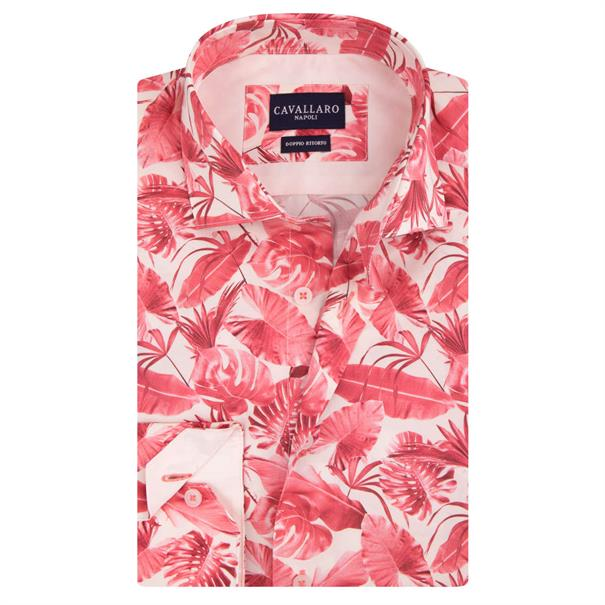 Cavallaro business overhemd Tailored Fit savari in het Roze