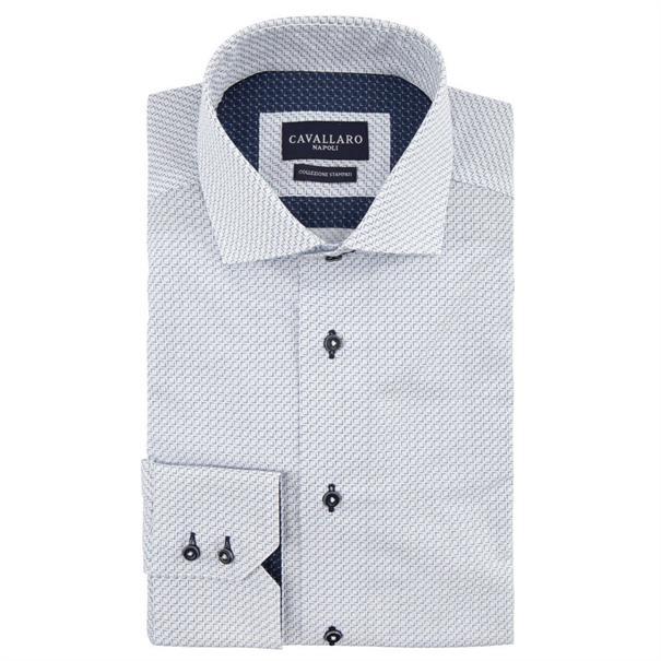 Cavallaro casual overhemd 1091010 in het Wit