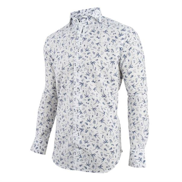 Cavallaro casual overhemd 1091021 in het Wit
