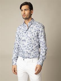 Cavallaro casual overhemd 110211036 in het Wit/Blauw
