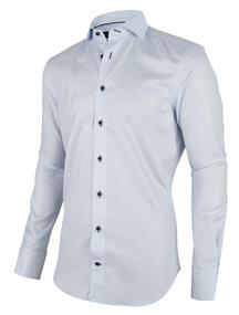 Cavallaro casual overhemd Tailored Fit 1001008 in het Licht Blauw