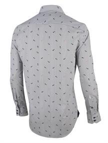 Cavallaro casual overhemd Tailored Fit 1001024 in het Ecru