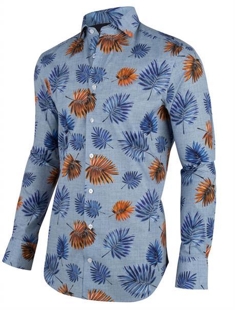 Cavallaro casual overhemd Tailored Fit 1001041 in het Marine
