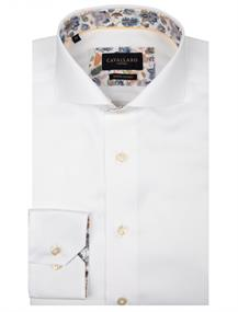 Cavallaro casual overhemd Tailored Fit 1001061 in het Wit