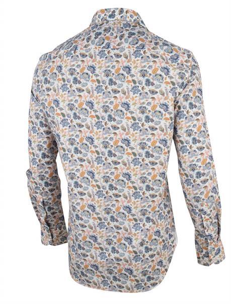 Cavallaro casual overhemd Tailored Fit 1001062 in het Wit