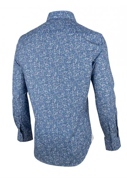 Cavallaro casual overhemd Tailored Fit 1001066 in het Marine