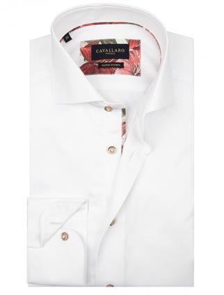 Cavallaro casual overhemd Tailored Fit 1001073 in het Wit