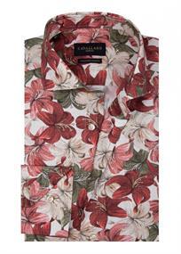 Cavallaro casual overhemd Tailored Fit 1001074 in het Rood