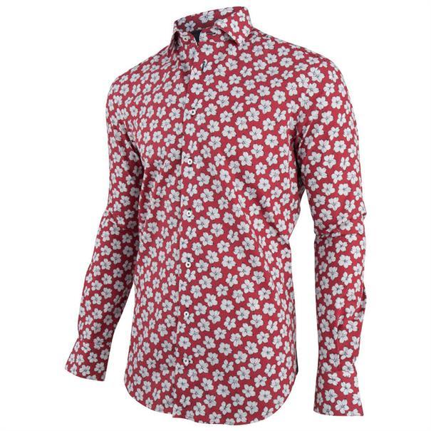 Cavallaro casual overhemd Tailored Fit 1091008 in het Rood