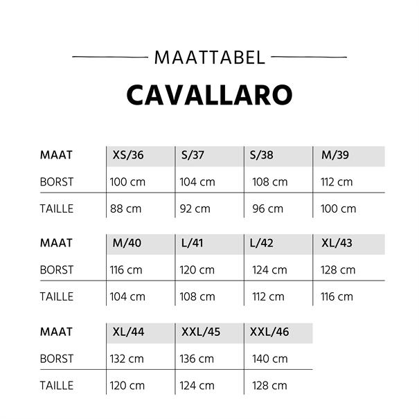 Cavallaro casual overhemd Tailored Fit 1095014-10653 in het Ecru