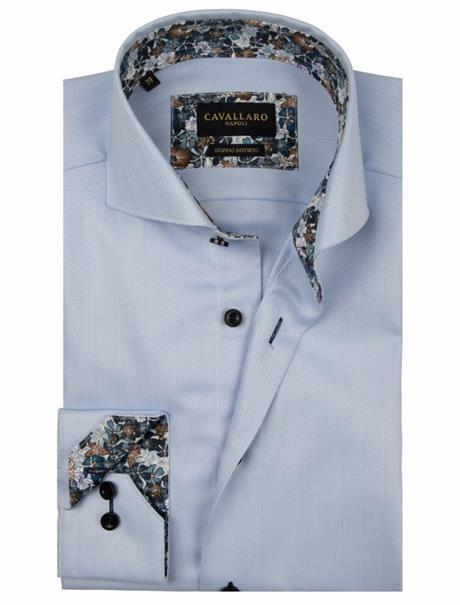 Cavallaro casual overhemden 110205022 in het Licht Blauw