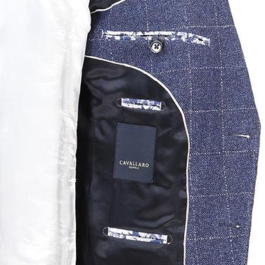 Cavallaro colbert Slim Fit 1301009 in het Donker Blauw
