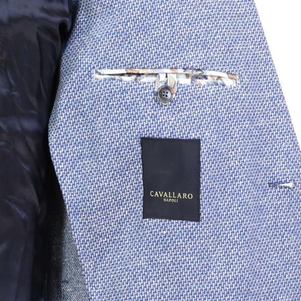 Cavallaro colbert Slim Fit 1301021 in het Donker Blauw